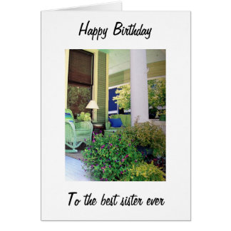 RELAX AND ENJOY YOUR BIRTHDAY SISTER GREETING CARD