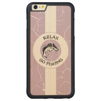 RELAXANDGO FISHING CARVED® MAPLE iPhone 6 PLUS BUMPER CASE