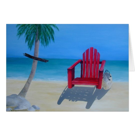 Relax at the beach card