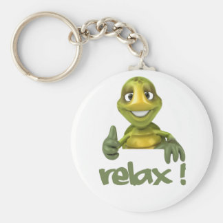 Relax ! basic round button key ring