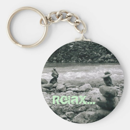 Relax Basic Round Button Key Ring