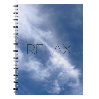 Relax Blue Sky and Cloud Nature Notebook