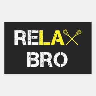 ReLax Bro Funny Lacrosse Rectangular Sticker