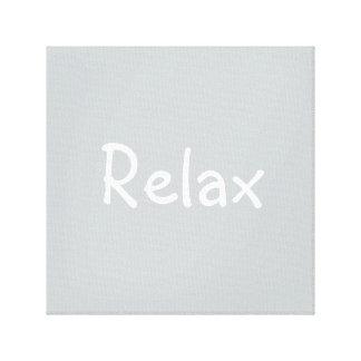 'Relax' Canvas Canvas Prints