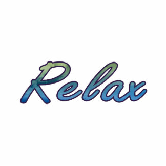 Relax cloud green blue outlined photo cut outs