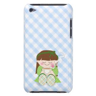 Relax! Cute Kawaii Girl Relaxing with Tea / Coffee Barely There iPod Case