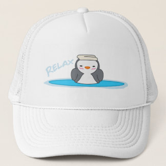 Relax Cute Penguin Trucker Hat