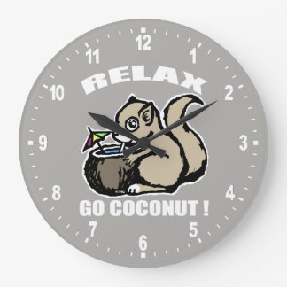 Relax! Go Coconut Large Clock