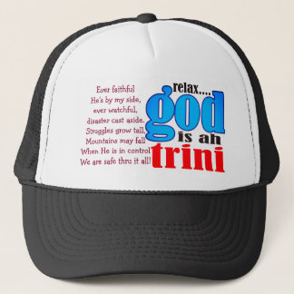 Relax God is ah Trini Hat (editable)
