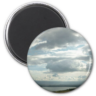 Relax.God is in control. 6 Cm Round Magnet