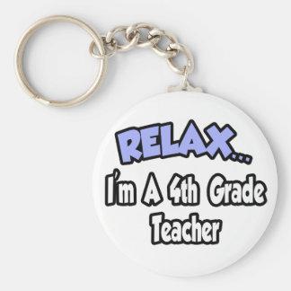 Relax...I'm A 4th Grade Teacher Key Chain