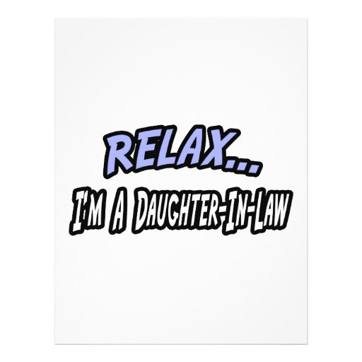 Relax, I'm a Daughter-In-Law Flyer