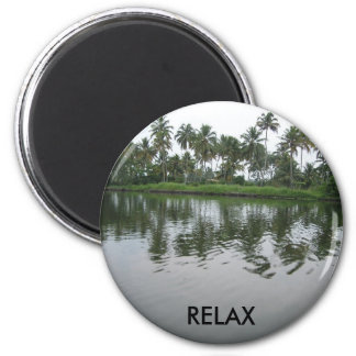 Relax in Kerala with Water and Coconut Trees! Magnet