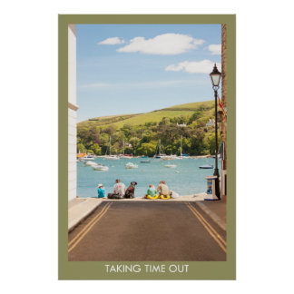 Relax in Salcombe Poster