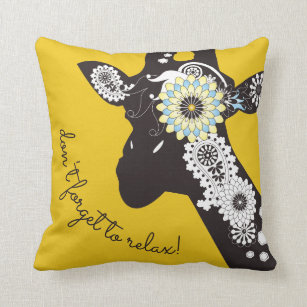 Altered Art Funky Giraffe Throw Pillow