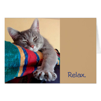 Relax...It's a Cat Themed Farewell Retirement Card