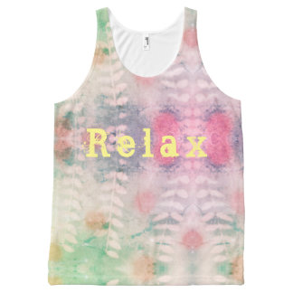 Relax leaf print All-Over print tank top