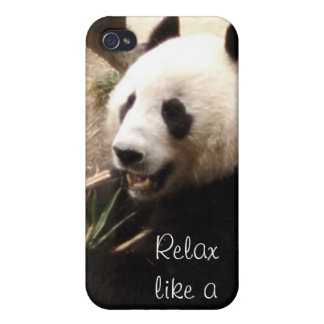Relax like a panda iPhone 4 covers