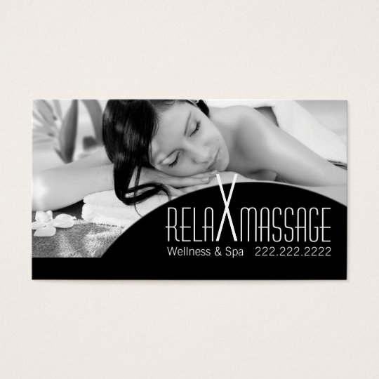 Relax Massage Spa Therapist Clinic Wellness Business Card