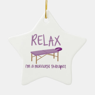 Relax Massage Table Christmas Ornament