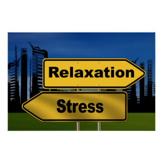 relax no stress poster