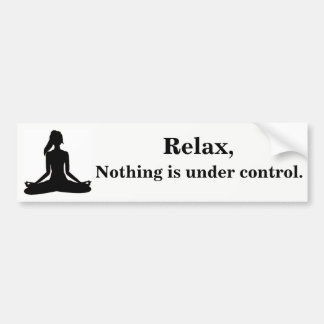 Relax, Nothing is under control. Bumper Sticker