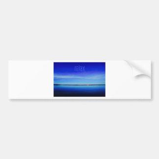 Relax Ocean Horizon Photo Bumper Sticker