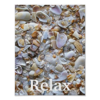 Relax Ocean Sand Poster Posters