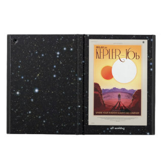 Relax on Kepler 16b holiday advert Cover For iPad Air