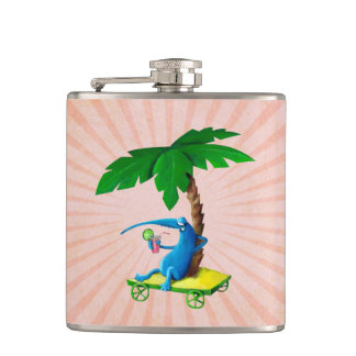 Relax on The Beach Hip Flask