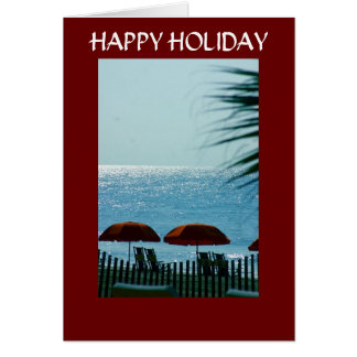 RELAX, REFRESH, RECHARGE-CHRISTMAS GREETING CARD