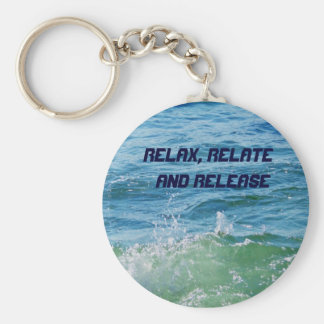 Relax, Relate  and Release_Keychain Basic Round Button Key Ring