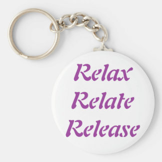 Relax, Relate, Release, Key Ring