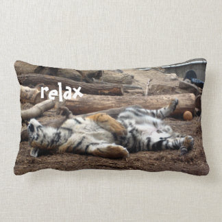 """Relax"" Sleeping Tiger Lumbar Cushion"