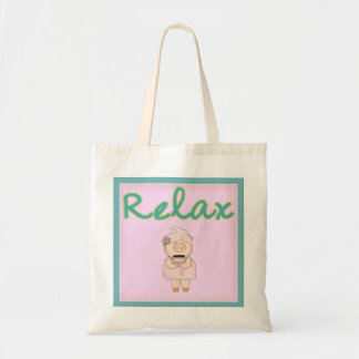 Relax Spa Gift Bag with Pampered Pig with Jar