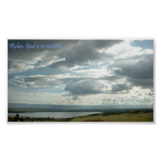 Relax stress relieving spa home decor poster