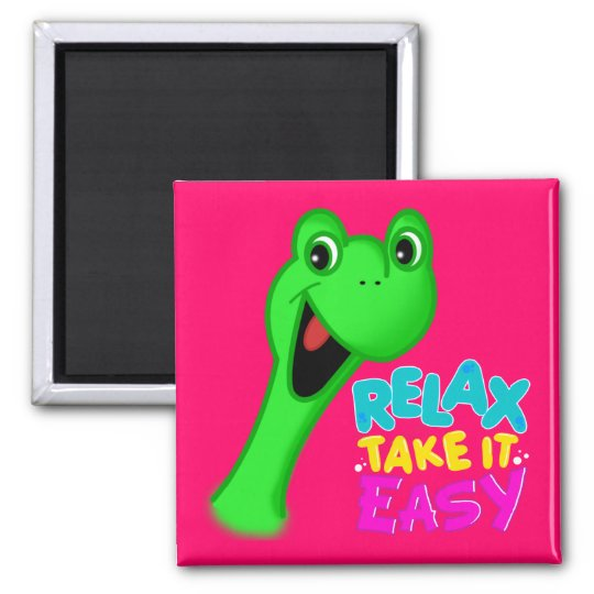RELAX TAKE IT EASY magnet TORTLE