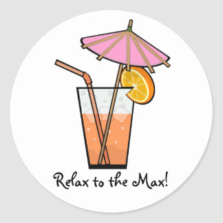 Relax To The Max! Classic Round Sticker