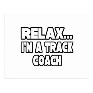 Relax Track Coach Post Card