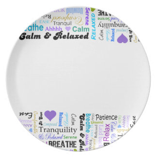 Relax typography Plate