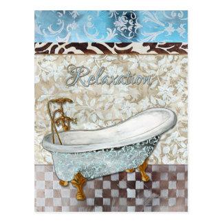 Relaxation Bathtub Postcard
