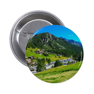 Relaxation Themed, A Bunch Of Houses Located In Th 6 Cm Round Badge