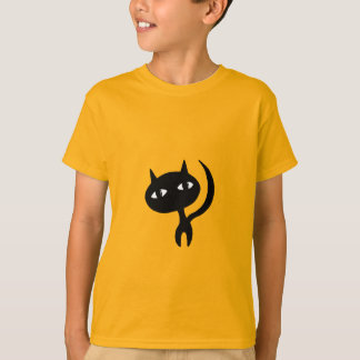 Relaxed Cat Silhouette T-Shirt
