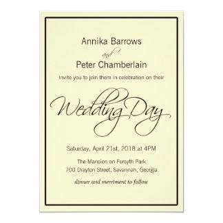 Relaxed Contemporary Wedding Card