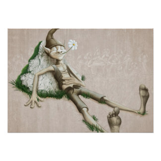 Relaxed elf poster
