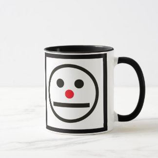 Relaxed Face Expression with Red Nose Mug