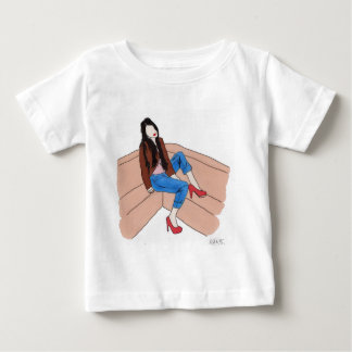 Relaxed female on sofa baby T-Shirt