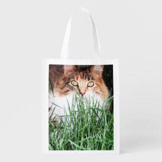 Relaxed Kitty Reusable Grocery Bag