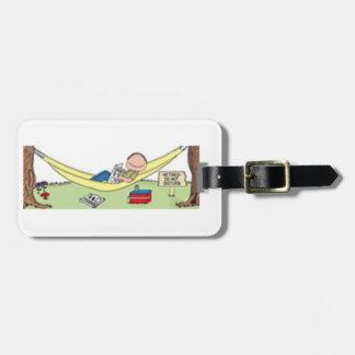 """RELAXED MALE IN HAMMOCK"" I.D, GOLF/LUGGAGE TAG"