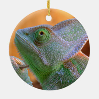 Relaxed Veiled Chameleon Christmas Ornament